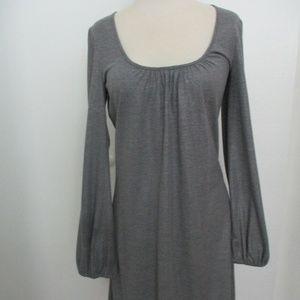 Trina Turk Grey Metallic Scoop Neck Dress Size 4